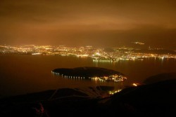 Ioannina: Panoramic view at night.