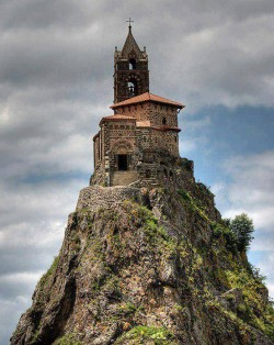 Saint-Michel d'Aiguilhe is a chapel in France, built in 962 on a volcanic plug 85 metres ( ...