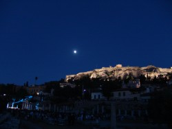Athens, The Acropolis under a full moon!